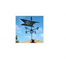 Флюгер на крышу GLORI ir Ko Фигурный-3 Флаг (черный и золотой) в Самаре