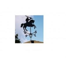 Флюгер на крышу GLORI ir Ko Рыцарь (черный и золотой) в Самаре