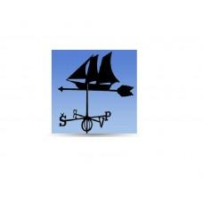 Флюгер на крышу GLORI ir Ko Корабль (черный и золотой) в Самаре