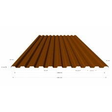 Профильный лист P -20 (0,5) Полимерное покрытие (крашенный) в Самаре