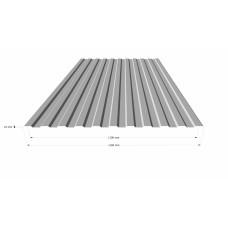 Профильный лист СС-10 (0,5) Оцинкованный в Самаре