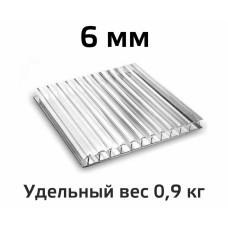 Лист поликарбоната Skyglass 6 мм (Прозрачный) в Самаре