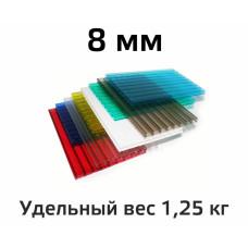 Лист поликарбоната цветной Woggel 8 мм в Самаре