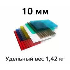 Лист поликарбоната цветной Woggel 10 мм в Самаре
