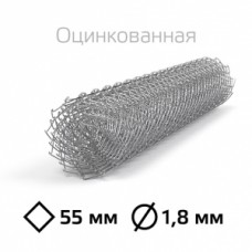 Сетка Рабица оцинкованная 22х1,4 мм в Самаре