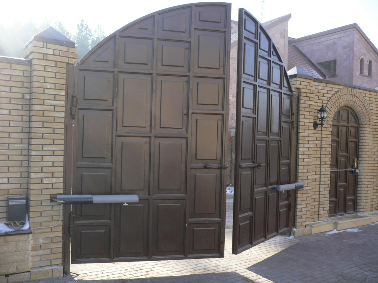 Ворота для дома автоматические гранд лайн ворота с калиткой
